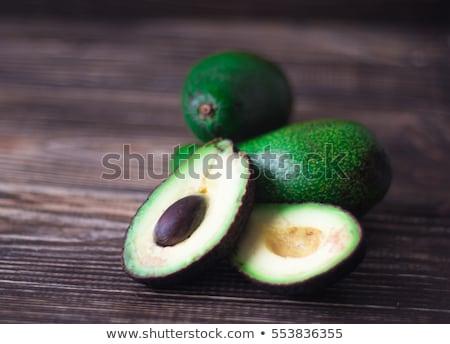 Vers organisch avocado donkere oude houten tafel Stockfoto © galitskaya