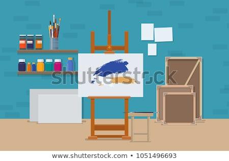 Art studio concept vector illustration. Stock photo © RAStudio