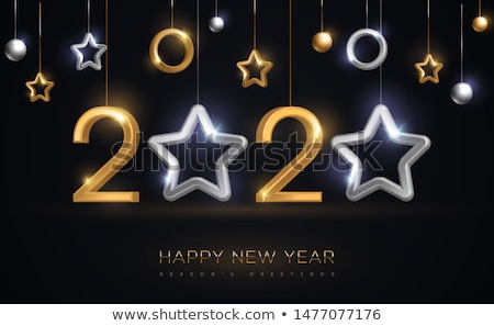 Happy New Year 2020 logo design with elegant black numbers Stock photo © ussr