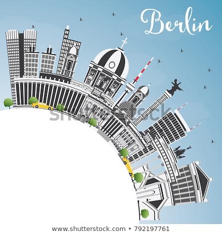ベルリン スカイライン グレー 建物 青空 コピースペース ストックフォト © ShustrikS