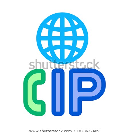 Voip ip roepen icon vector schets Stockfoto © pikepicture