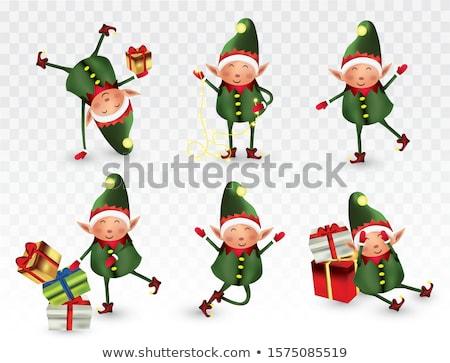 Karácsony üdvözlet kártyák mikulás szórakozás kicsi Stock fotó © robuart