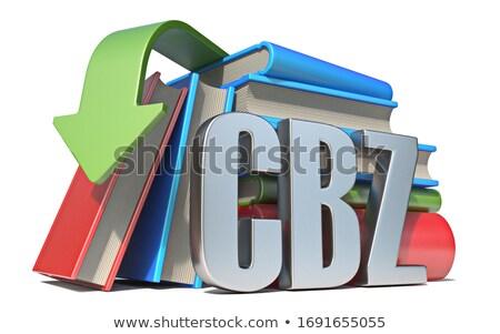 Ebook downloaden 3D 3d render illustratie geïsoleerd Stockfoto © djmilic