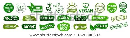 Naturelles fraîches produit 100 pour cent garantir Photo stock © robuart