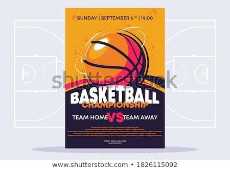 баскетбол лига иллюстрация спорт Кубок гонка Сток-фото © adrenalina