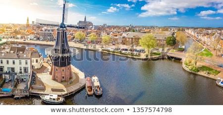 Straße Niederlande geschichtlich Häuser Stadt Zentrum Stock foto © borisb17
