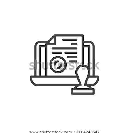Rechtlichen Notar Symbol Vektor Gliederung Illustration Stock foto © pikepicture