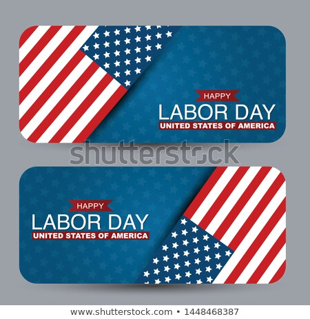 Memorial Day of the USA Vector Illustration. American National Celebration Design with Flag in Patri Stock photo © articular