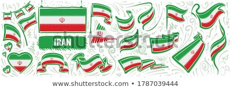 Vektor szett zászló Irán különböző kreatív Stock fotó © butenkow