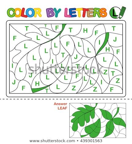 letter l educational task coloring book page Stock photo © izakowski