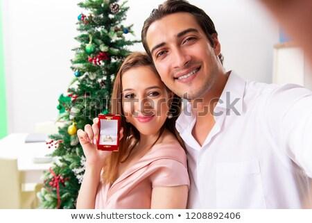 Homem casamento proposta natal dia Foto stock © Elnur