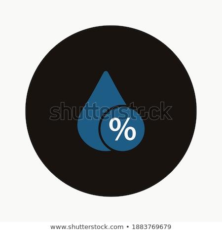 Vochtigheid procent icon weer geïsoleerd regen Stockfoto © Imaagio