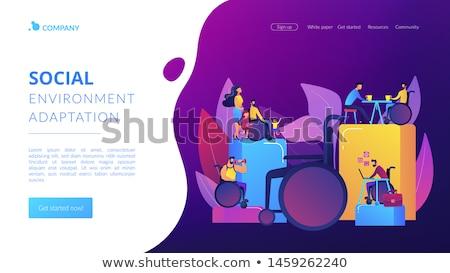 Disabled people environment app interface template. Stock photo © RAStudio
