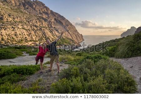 dawn or dusk over summer beach in mallorca spain Stock photo © godfer