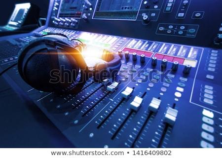 Suna mixer birou studio record mass-media Imagine de stoc © Suriyaphoto