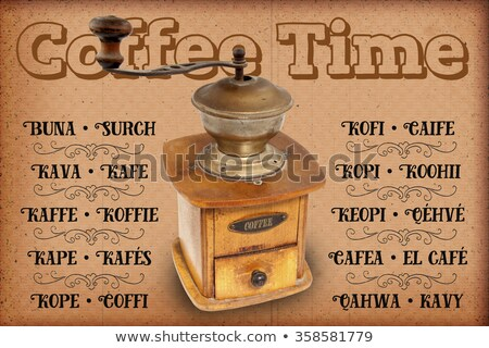 Koffie molen witte ontwerp product houten Stockfoto © premiere
