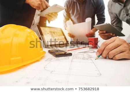 Construção financiamento capacete euro branco Foto stock © joker