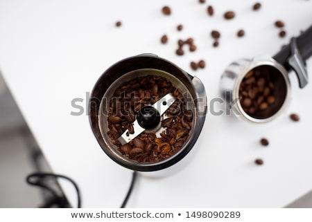 Elektrik kahve öğütücü yalıtılmış beyaz çikolata Stok fotoğraf © RuslanOmega