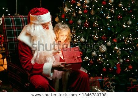 Jonge kind geschenk reusachtig aanwezig Stockfoto © gewoldi
