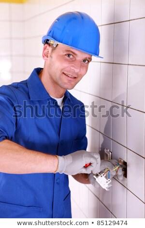 elektrische · team · kamer · vrouw · huis · bouw - stockfoto © photography33