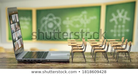 e-learning on blackboard Stock photo © marinini