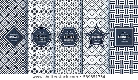 Retro Pattern Label Stock photo © vectomart