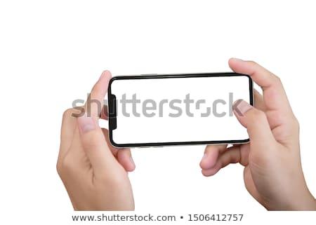 Foto hand mobiele telefoon kantoor Stockfoto © TheProphet