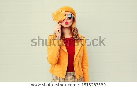 Autumn portrait of a woman Stock photo © Aliftin