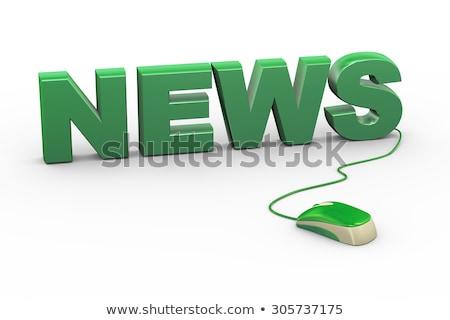 コンピューターのマウス 新聞 白 ニュース ストックフォト © devon