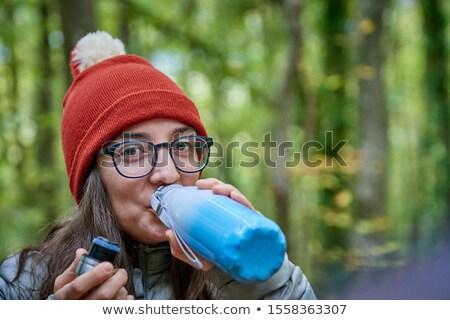 женщину · рук · лице · знак · портрет · женщины - Сток-фото © photography33