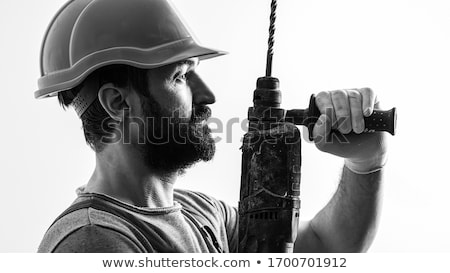 man in profile with drill Stock photo © photography33