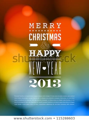 vetor · natal · ano · novo · cartão · 2013 · folha - foto stock © orson