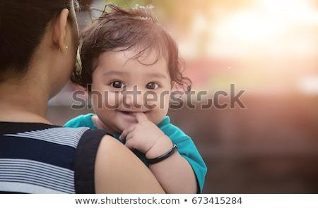 indio · bebé · riendo · adorable · blanco · cara - foto stock © ziprashantzi