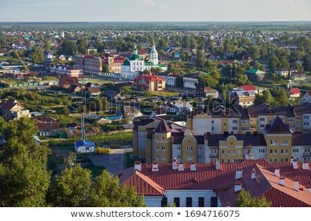 Сток-фото: Церкви · Кремль · регион · Россия · небе · крест