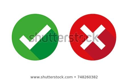 Tak nie 3D czerwony zielone bloków Zdjęcia stock © marinini