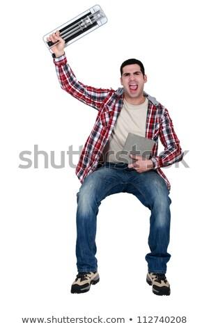 Screaming tiler on white background Stock photo © photography33