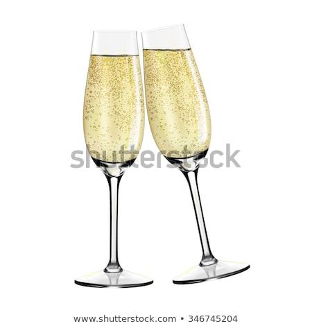 celebratory glasses of champagne to the Christmas  Stock photo © OleksandrO