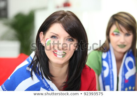 Two female Italian soccer supporters Stock photo © photography33