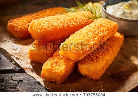пальца · рыбы · Stick · продовольствие · детей - Сток-фото © m-studio