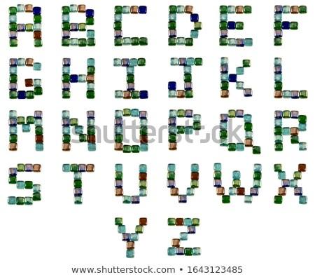 of alphabet font gem and colored glass Stock photo © yurkina