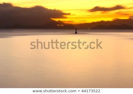 Stock fotó: Sunset Photographed In Hong Kong Lamma Island