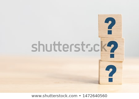 Questions and strategies symbol Stock photo © Lightsource