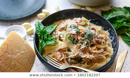 грибы ветчиной пластина гриль продовольствие ресторан Сток-фото © guillermo