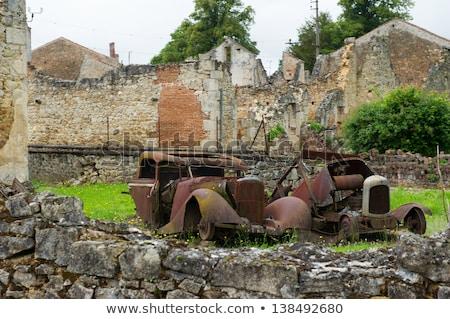 car of the doctor in oradour sur glane stock photo © ivonnewierink