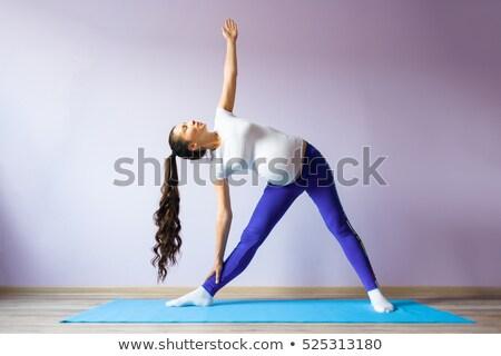 Asiático mulher grávida pré-natal ioga Foto stock © szefei