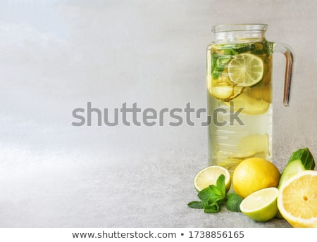 Stock photo: glass of lemon juice, lemonade