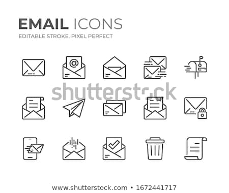 Vector icon spam mail computer Stockfoto © zzve