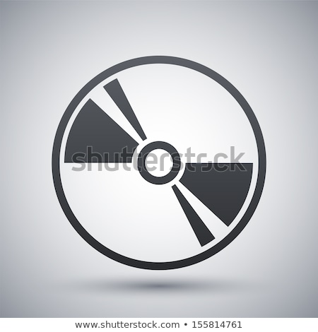 Vetor ícone cd dados registro Foto stock © zzve
