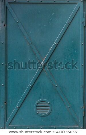 verdubbelen · groene · deuren · groot · geschilderd · hout - stockfoto © nuttakit