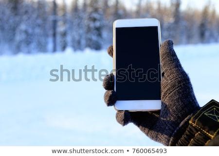 garçon · smartphone · forêt · ans · vieux - photo stock © 805promo